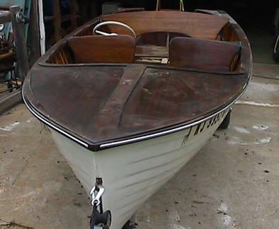 Here's an excellent boat that can be used as is or refinished in mahogany; topside finish is great.